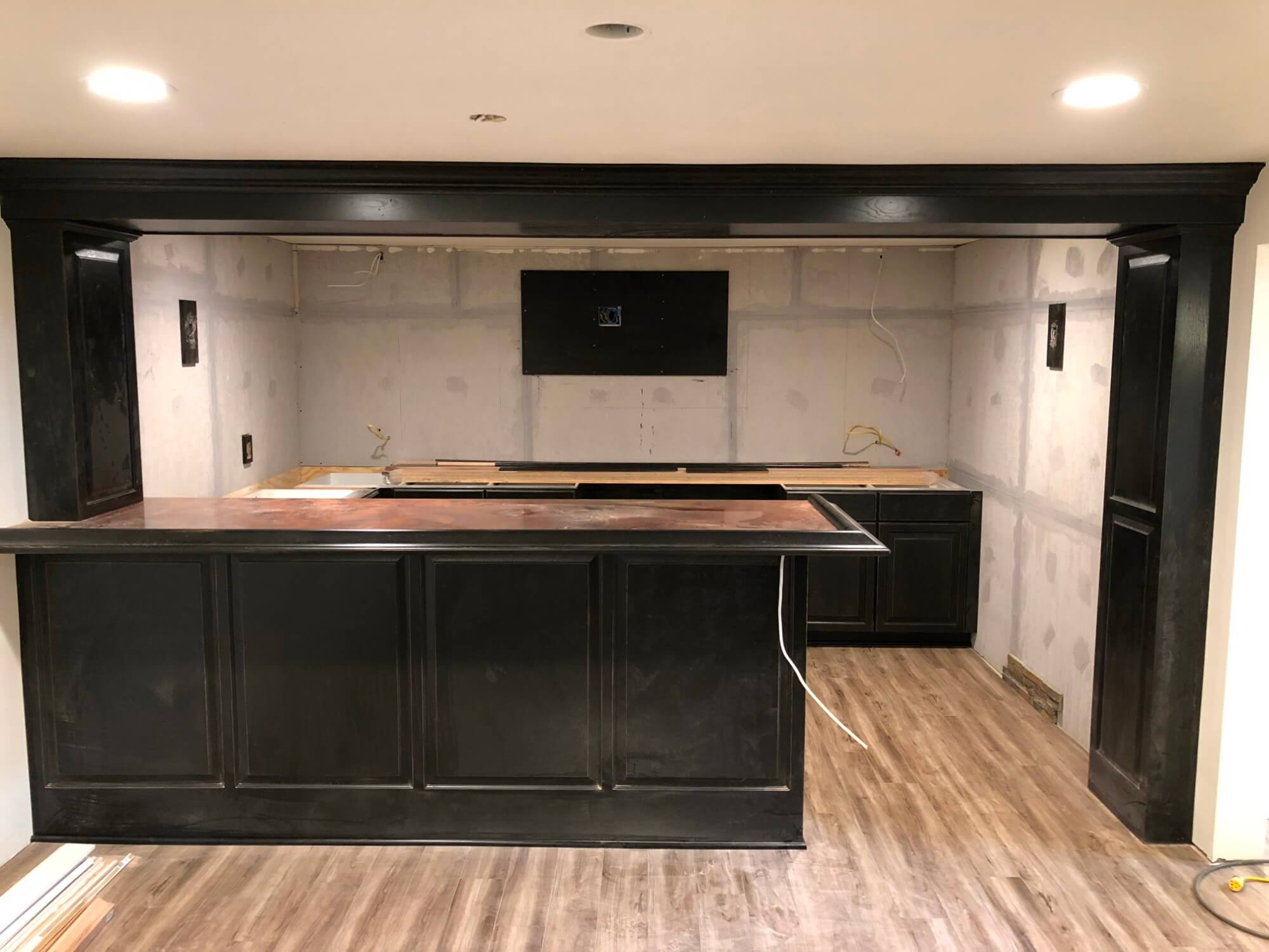 Black Counter Cabinet