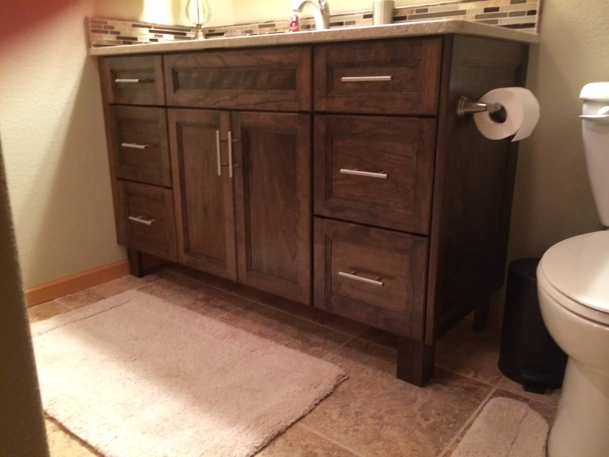 Cabinet with Sink in Bathroom