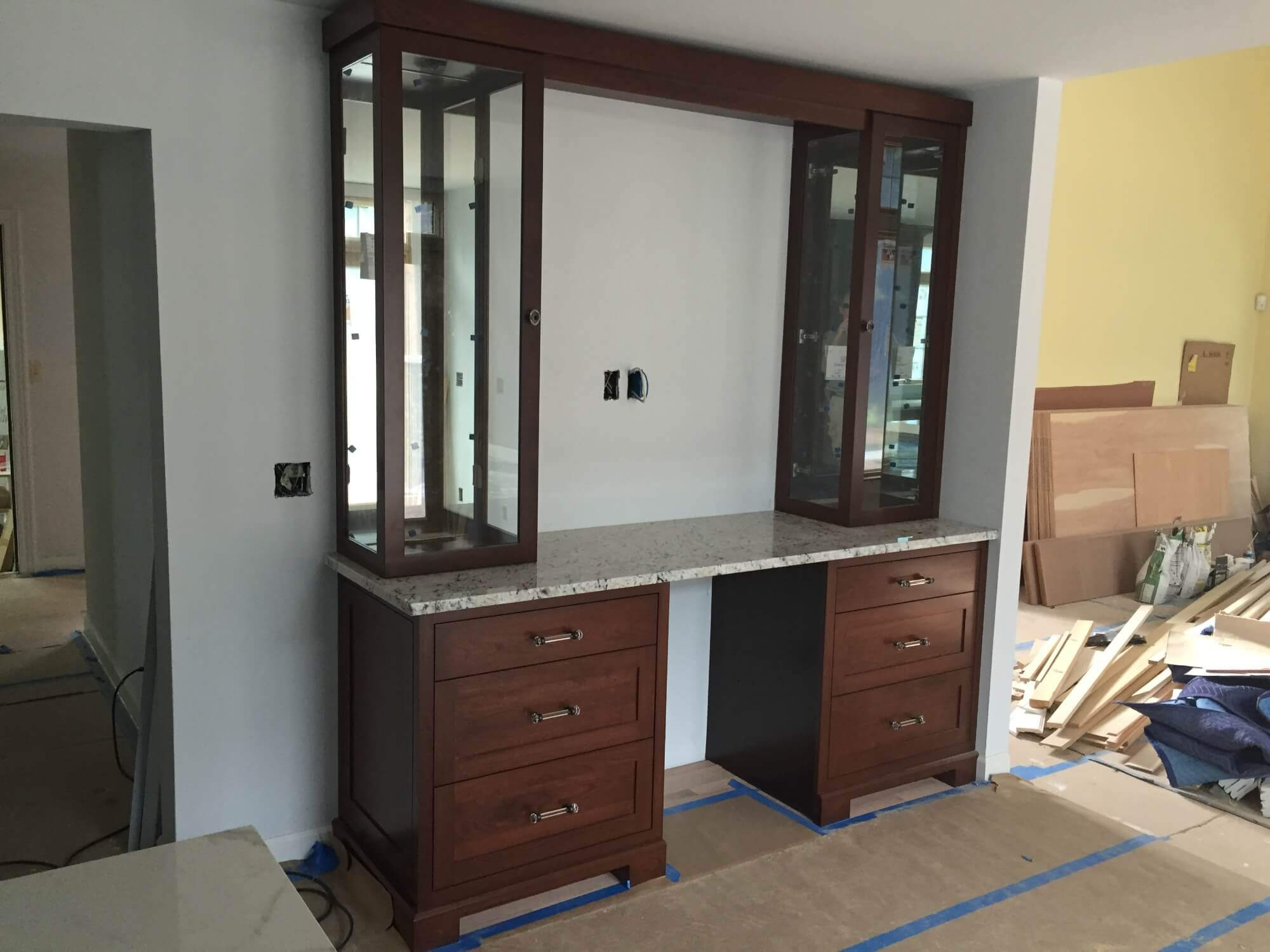 Glass Cabinet Door Installation